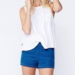 Free People Side Zip High Rise Shorts